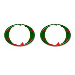 Holiday Wreath Cufflinks (oval)