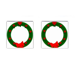 Holiday Wreath Cufflinks (square)