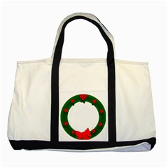 Holiday Wreath Two Tone Tote Bag