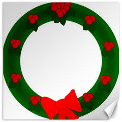 Holiday Wreath Canvas 16  X 16