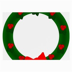 Holiday Wreath Large Glasses Cloth