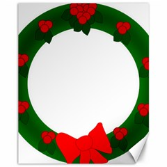 Holiday Wreath Canvas 11  X 14