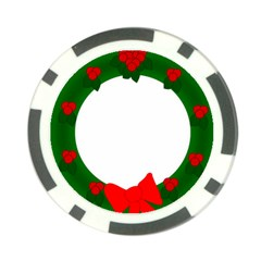 Holiday Wreath Poker Chip Card Guards
