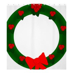 Holiday Wreath Shower Curtain 66  X 72  (large)