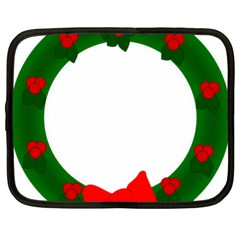 Holiday Wreath Netbook Case (xl)