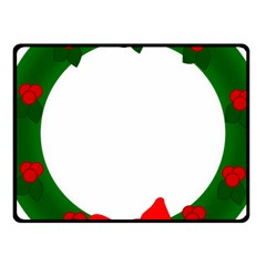 Holiday Wreath Fleece Blanket (small)