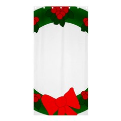 Holiday Wreath Shower Curtain 36  X 72  (stall)