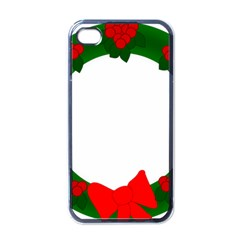Holiday Wreath Apple Iphone 4 Case (black)