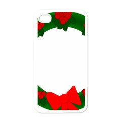 Holiday Wreath Apple Iphone 4 Case (white)