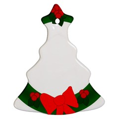 Holiday Wreath Christmas Tree Ornament (2 Sides)