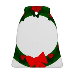 Holiday Wreath Bell Ornament (2 Sides)