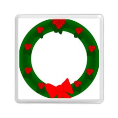 Holiday Wreath Memory Card Reader (square)