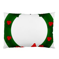 Holiday Wreath Pillow Case (Two Sides)