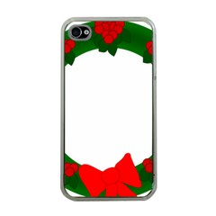 Holiday Wreath Apple Iphone 4 Case (clear)