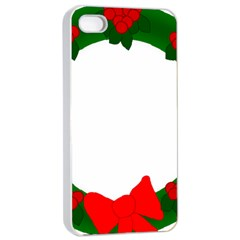 Holiday Wreath Apple Iphone 4/4s Seamless Case (white)