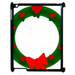 Holiday Wreath Apple Ipad 2 Case (black)