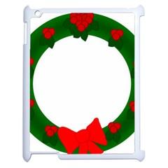 Holiday Wreath Apple iPad 2 Case (White)