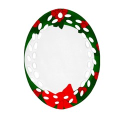 Holiday Wreath Oval Filigree Ornament (2 Side)