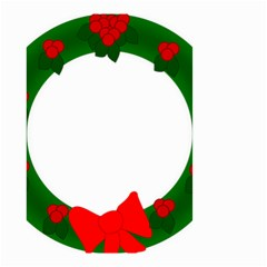 Holiday Wreath Small Garden Flag (two Sides)