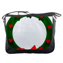 Holiday Wreath Messenger Bags