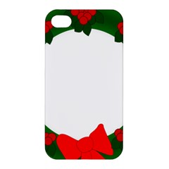 Holiday Wreath Apple Iphone 4/4s Premium Hardshell Case