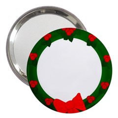 Holiday Wreath 3  Handbag Mirrors