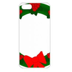 Holiday Wreath Apple Iphone 5 Seamless Case (white)