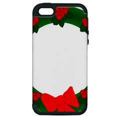 Holiday Wreath Apple Iphone 5 Hardshell Case (pc+silicone)