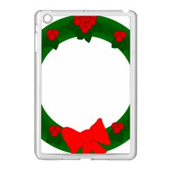 Holiday Wreath Apple Ipad Mini Case (white)