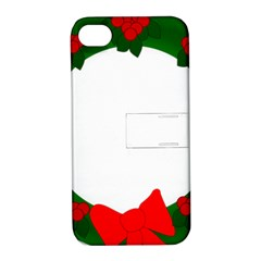 Holiday Wreath Apple Iphone 4/4s Hardshell Case With Stand