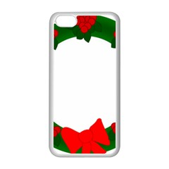 Holiday Wreath Apple Iphone 5c Seamless Case (white)