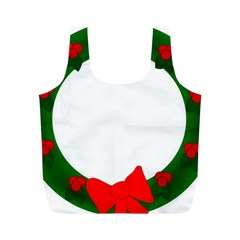 Holiday Wreath Full Print Recycle Bags (m)