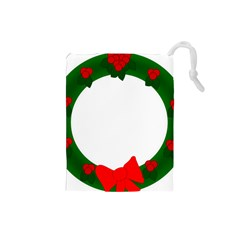 Holiday Wreath Drawstring Pouches (small)