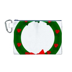 Holiday Wreath Canvas Cosmetic Bag (m)