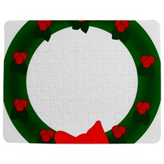 Holiday Wreath Jigsaw Puzzle Photo Stand (rectangular)