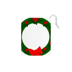 Holiday Wreath Drawstring Pouches (xs)