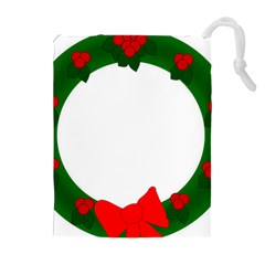 Holiday Wreath Drawstring Pouches (extra Large)