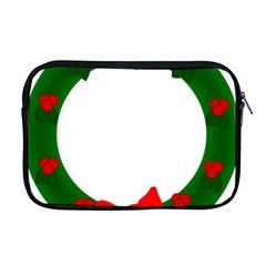 Holiday Wreath Apple Macbook Pro 17  Zipper Case