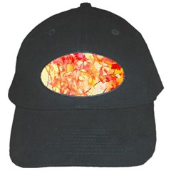 Monotype Art Pattern Leaves Colored Autumn Black Cap
