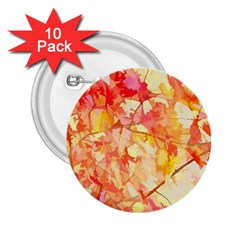 Monotype Art Pattern Leaves Colored Autumn 2 25  Buttons (10 Pack)