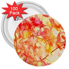 Monotype Art Pattern Leaves Colored Autumn 3  Buttons (100 Pack)