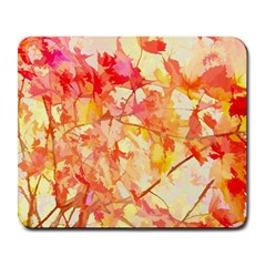 Monotype Art Pattern Leaves Colored Autumn Large Mousepads