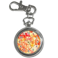 Monotype Art Pattern Leaves Colored Autumn Key Chain Watches