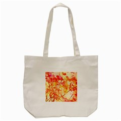 Monotype Art Pattern Leaves Colored Autumn Tote Bag (cream)