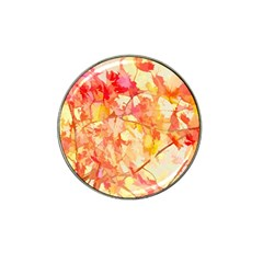 Monotype Art Pattern Leaves Colored Autumn Hat Clip Ball Marker (4 Pack)