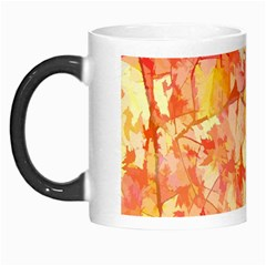 Monotype Art Pattern Leaves Colored Autumn Morph Mugs