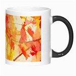 Monotype Art Pattern Leaves Colored Autumn Morph Mugs Right