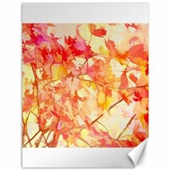 Monotype Art Pattern Leaves Colored Autumn Canvas 18  X 24