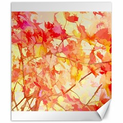 Monotype Art Pattern Leaves Colored Autumn Canvas 20  X 24