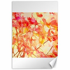 Monotype Art Pattern Leaves Colored Autumn Canvas 20  X 30